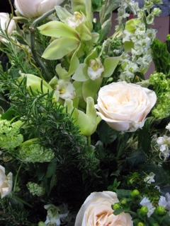 Cymbidium and Roses