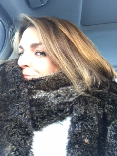 Bundled up in my Restoration Hardware Wrap